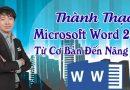 Thành thạo Microsoft Word 2013 từ cơ bản đến nâng cao